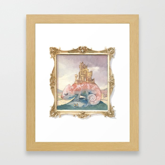 Camelot on a Chameleon Framed Art Print