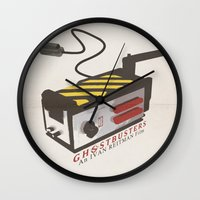 ghostbusters Wall Clocks featuring Ghostbusters by JAGraphic