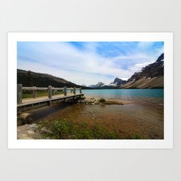 Bow Lake & Mountains Art Print