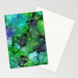 Alcohol Ink 'Galapagos' Stationery Cards
