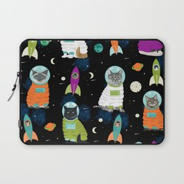 Space Cats pet portraits cute cat gifts cat lady outer space cadet rockets Laptop Sleeve