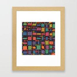 Random Cubes Framed Art Print