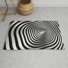 Square wormhole (b/w) Rug