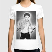 jared leto T-shirts featuring Jared Leto (30 Seconds To Mars) Portrait. by Carl Merrell Art