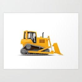 Bulldozer Art Print