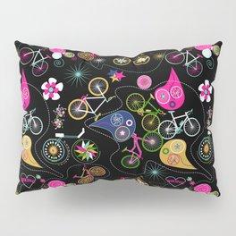 Cycledelic black Pillow Sham