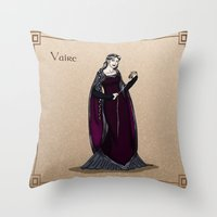 valar morghulis Throw Pillows featuring Vaire by wolfanita