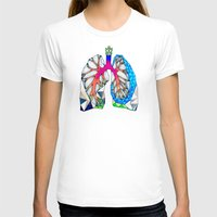 lungs T-shirts featuring Lungs by Heidi Failmezger