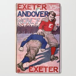 Vintage poster - Exeter vs. Andover College Football Cutting Board