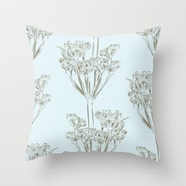 Seed head repeat Throw Pillow