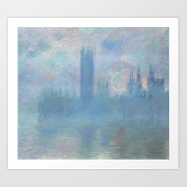 Monet, The Houses of Parliament, London, 1900-1093 Art Print
