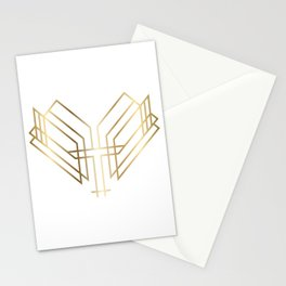 Art Deco Heart Stationery Cards