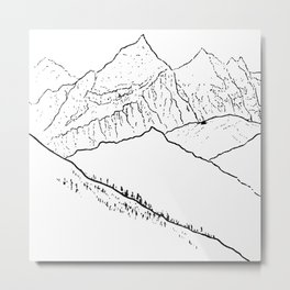 Mountain Minimal Bliss Metal Print