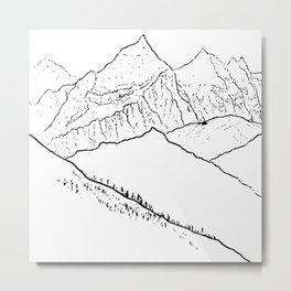 Mountain Minimal Bliss Metal Print