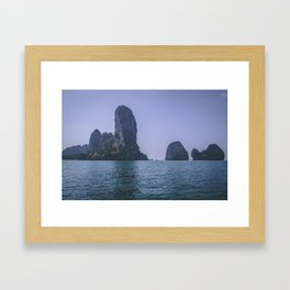 Rock Formations of Krabi Framed Art Print