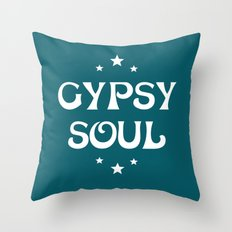 Gypsy Soul Mystical Stars Teal Throw Pillow