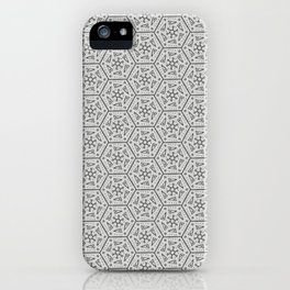 Going Round and Round - Stone Grey iPhone Case