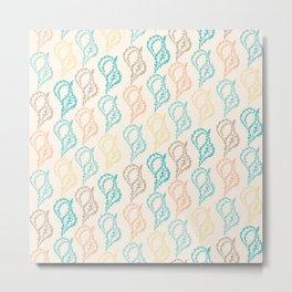 Pastel Marine Pattern 11 Metal Print