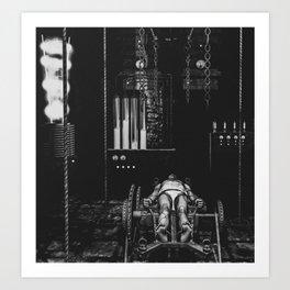 Frankenstein's Monster In The Lab Art Print