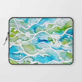 Waves Watercolor Laptop Sleeve