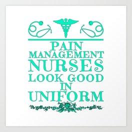Pain Management Nurse Graduation Gift Art Print