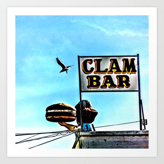 Coney Island Clam Bar Art Print