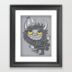 My Moishe (Grayscale) Framed Art Print