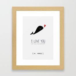 Valentines card Framed Art Print
