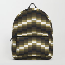 Block Wave Illustration Artwork Backpack