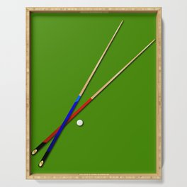 Snooker Cues Serving Tray