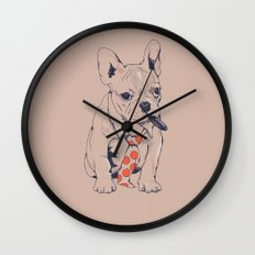 FRENCH BULLDOG BOSS Wall Clock