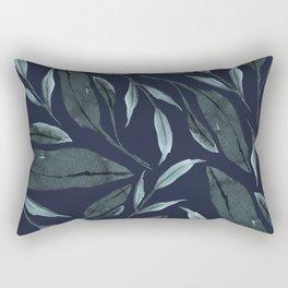 Leafy Vibes (Navy) Rectangular Pillow