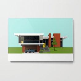 Mid Century House 4 Metal Print