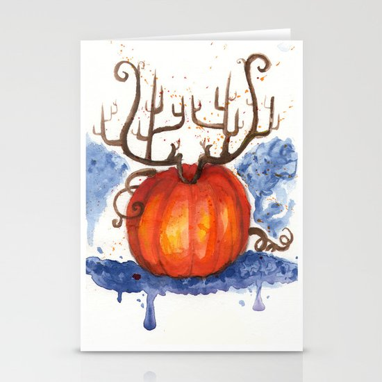 Deer Pumpkin Stationery Cards