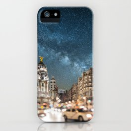 Madrid at night iPhone Case