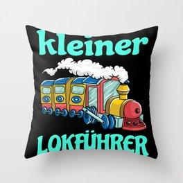 Little Train Driver Kids Gift Idea Design Motif Throw Pillow