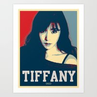 snsd Art Prints featuring Tiffany SNSD Hopeless Design by Timeless-Id