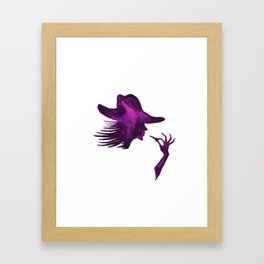 DIVA WITH HAT and Lipstick - PAINTED - Gorgeous VIOLET Framed Art Print