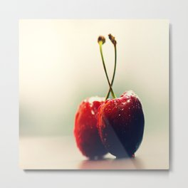 #Two #Gourmet #cherry Metal Print