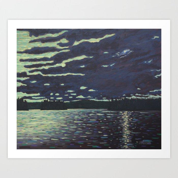 Moonlight – McIntosh Lake, Algonquin Park Art Print