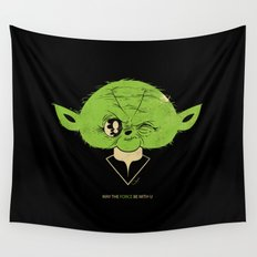 StarWars May the Force be with you (green vers.) Wall Tapestry