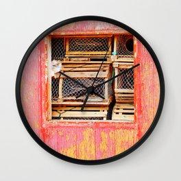 Lobster Trap Shack Wall Clock