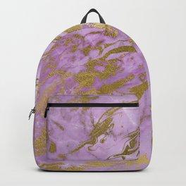 Lavender Gold Marble Backpack