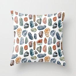 Sea stones Throw Pillow