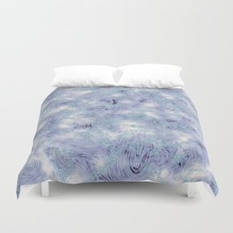 Blue and Purple Marble Swirl Texture Duvet Cover