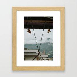 Coffee House Climbers Framed Art Print