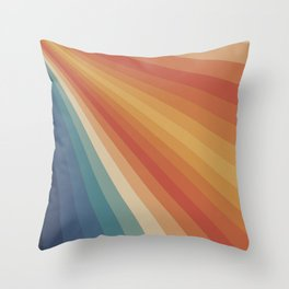 Retro 70s Sunrays Throw Pillow