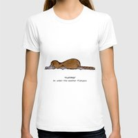 platypus T-shirts featuring Flatypus Platypus by Doone's Drawing Room