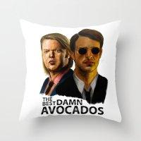 daredevil Throw Pillows featuring Daredevil by IremYorukoglu