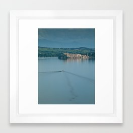 Lake Bracciano Framed Art Print
